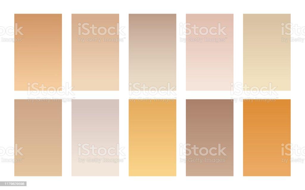 Vektorsatz Von Farbverlaufshintergrunden Holz Farbpalette Stock Vektor Art Und Mehr Bilder Von Aquarell Istock