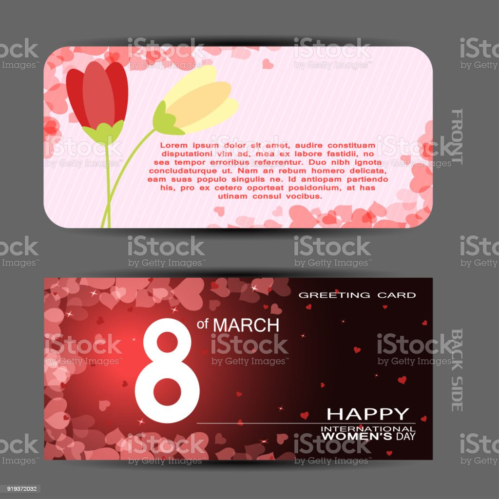 Vector set of greeting card for happy womens day with case and vector set of greeting card for happy womens day with case and insert on the light m4hsunfo
