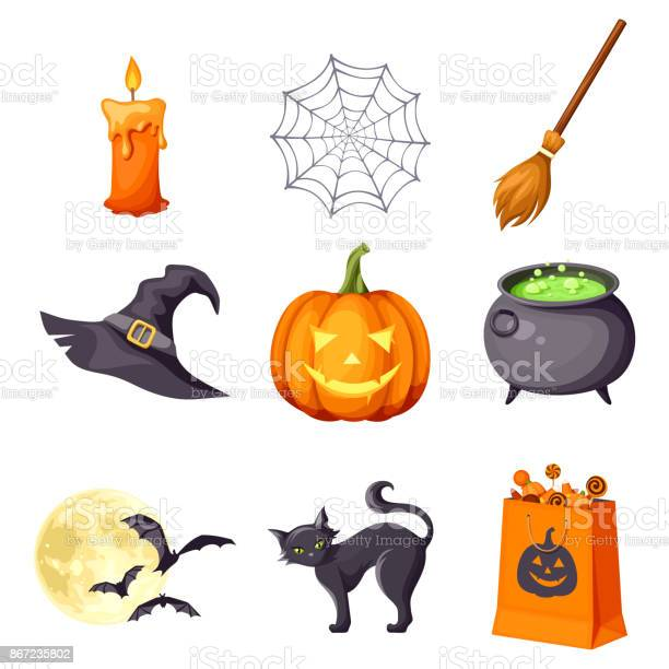 Vector set of halloween symbols vector id867235802?b=1&k=6&m=867235802&s=612x612&h=hkpd87uyfok7owp9kwgzft l9jacflicz78o ewhc8g=