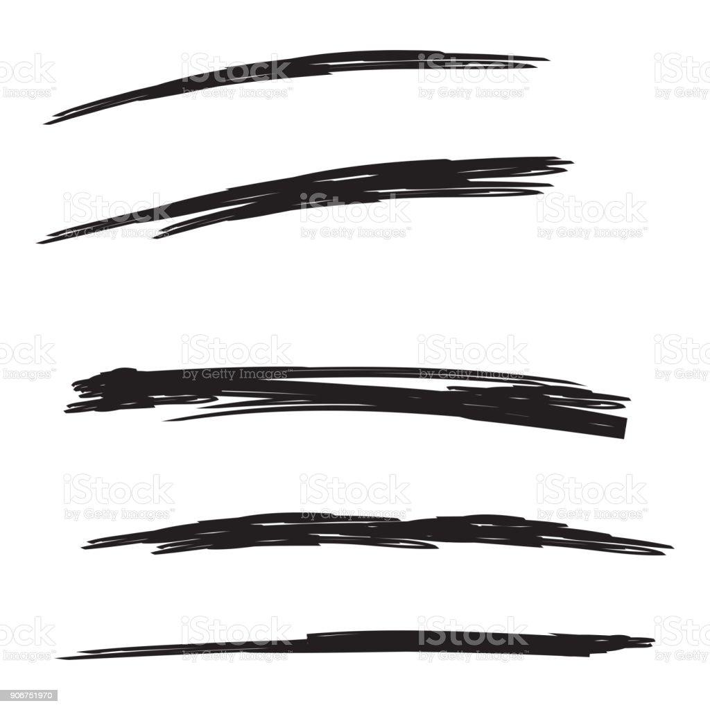Vector set of hand drawn. vector art illustration