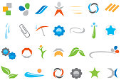 Abstract icons or icons for business