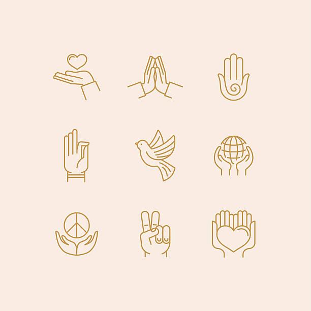 vector set of icons - 宗教 幅插畫檔、美工圖案、卡通及圖標