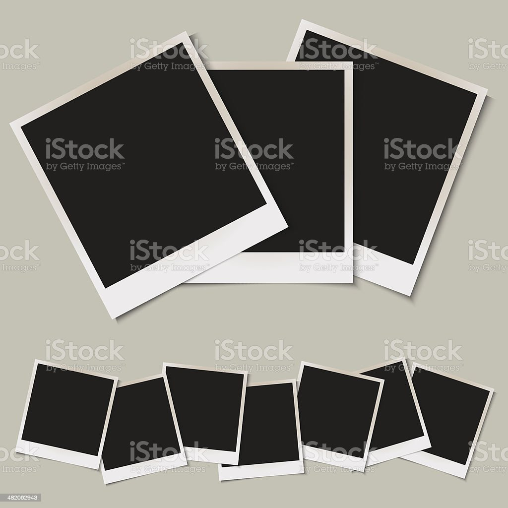 Vector set of  isolated Photo frames vector art illustration