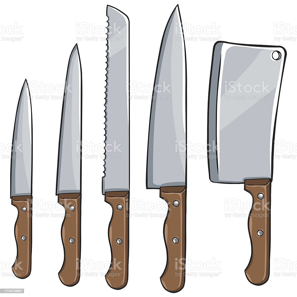 vector set of kitchen knives royalty-free vector set of kitchen knives stock vector art & more images of blade