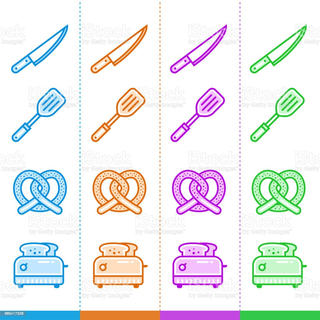Vector set of linear icons, bakery, cooking. Suitable for website, mobile apps and print royalty-free vector set of linear icons bakery cooking suitable for website mobile apps and print stock vector art & more images of bakery
