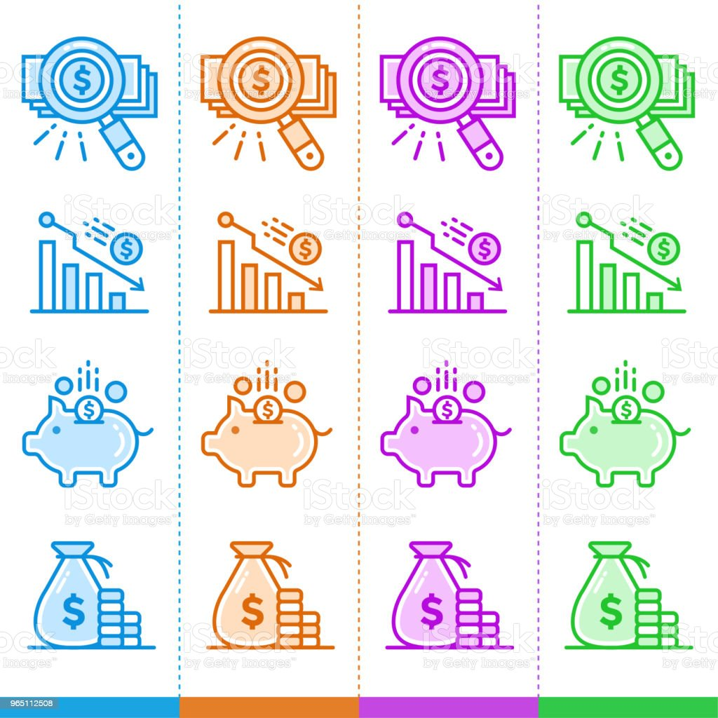 Vector set of linear icons, finance, banking. Suitable for website, mobile apps and print royalty-free vector set of linear icons finance banking suitable for website mobile apps and print stock vector art & more images of banking