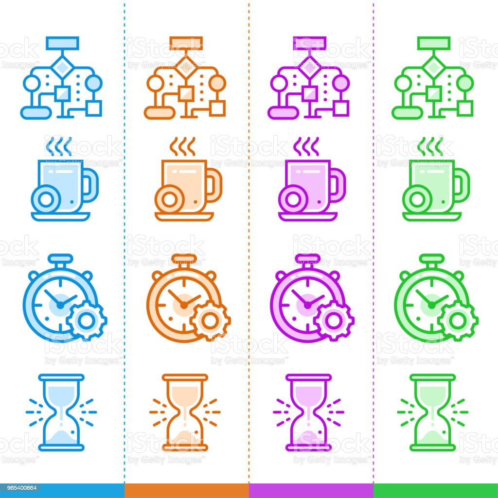 Vector set of linear icons for new business in different color. Suitable for website, mobile apps and print. vector set of linear icons for new business in different color suitable for website mobile apps and print - stockowe grafiki wektorowe i więcej obrazów bez ludzi royalty-free