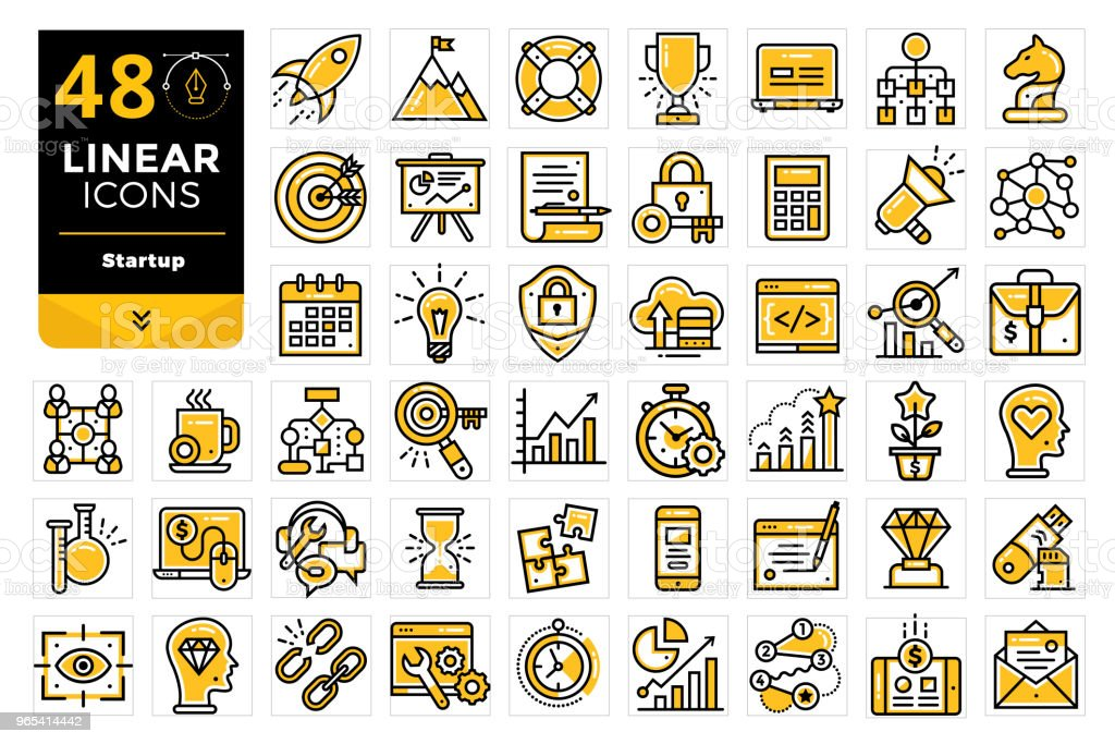 Vector set of linear icons for startup business. High quality modern icons for suitable for print, website and presentation royalty-free vector set of linear icons for startup business high quality modern icons for suitable for print website and presentation stock vector art & more images of business