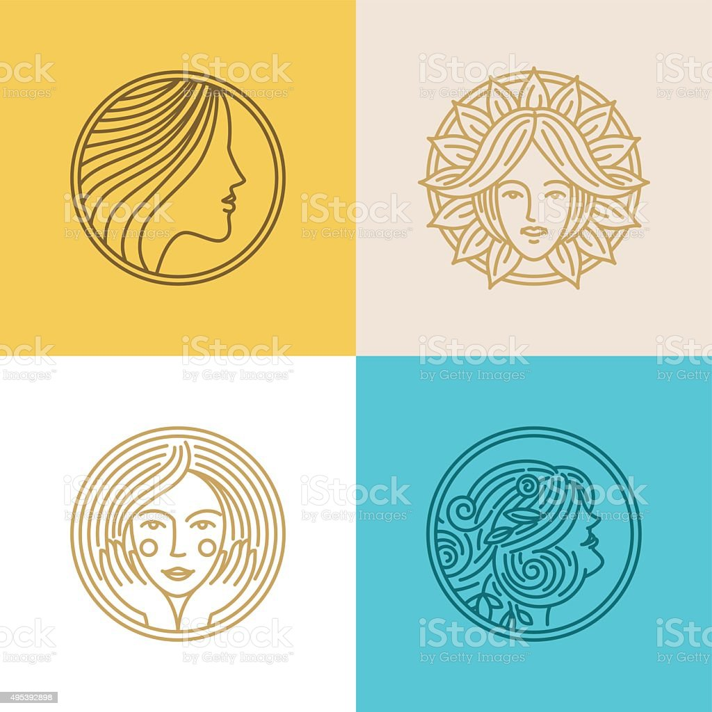 Vector set of logo design templates and abstract concepts vector art illustration