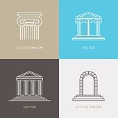Vector set of logo design templates, emblems and icons