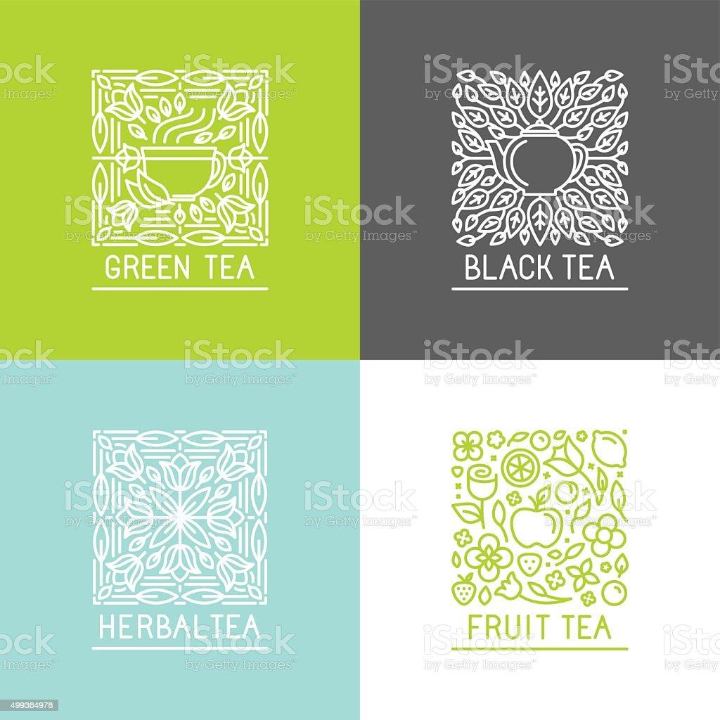 Vector set of logo design templates vector art illustration