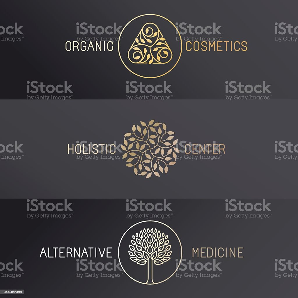 Vector set of logo design templates vector art illustration