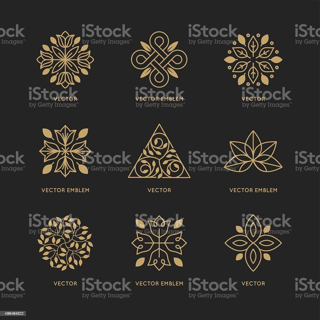 Vector logo Conjunto de plantillas de diseño - ilustración de arte vectorial