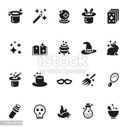 Vector set of magic icons