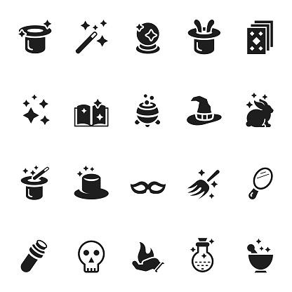 Vector set of magic icons