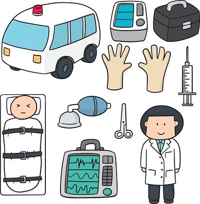 vector set of medical equipment