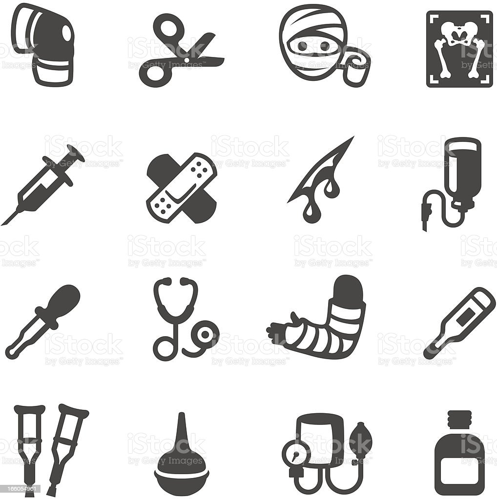 Vector set of medical supply icons vector art illustration
