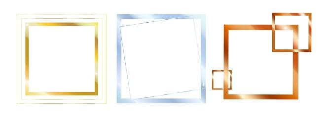 Vector set of metal frames for design