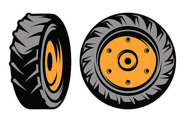 Clip Art Tractor Wheels : Royalty free big tires clip art vector images