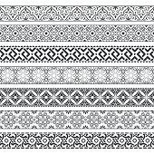 Vector set of monochrome