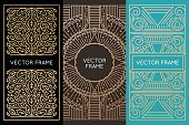 Vector set of monogram design elements