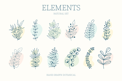 Vector set of nerd elements with circles