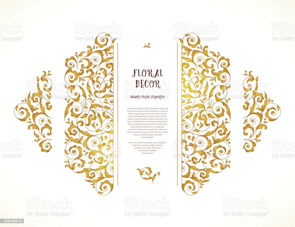 Vecteur défini d'encadrement orné en style oriental. - Illustration vectorielle