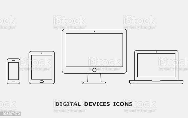 Vector set of outline device icons monitor laptop tablet pc and vector id998597470?b=1&k=6&m=998597470&s=612x612&h=4gv7gxqvzscvp lm0guwijr2bflo84dm0wgltjqd3m0=