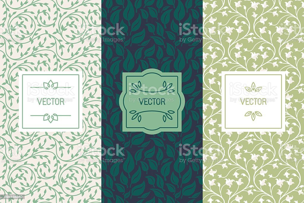 Vector set of packaging design templates for cosmetics, beauty p - ilustración de arte vectorial
