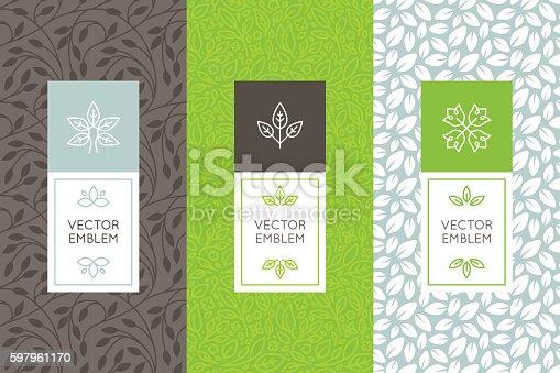 istock Vector set of packaging design templates 597961170