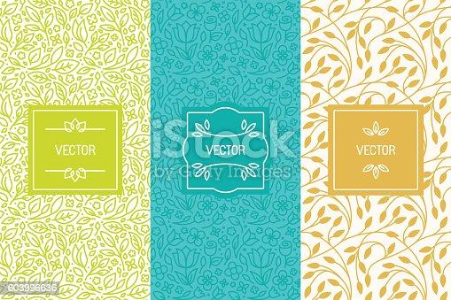 istock Vector set of packaging design templates 603996636