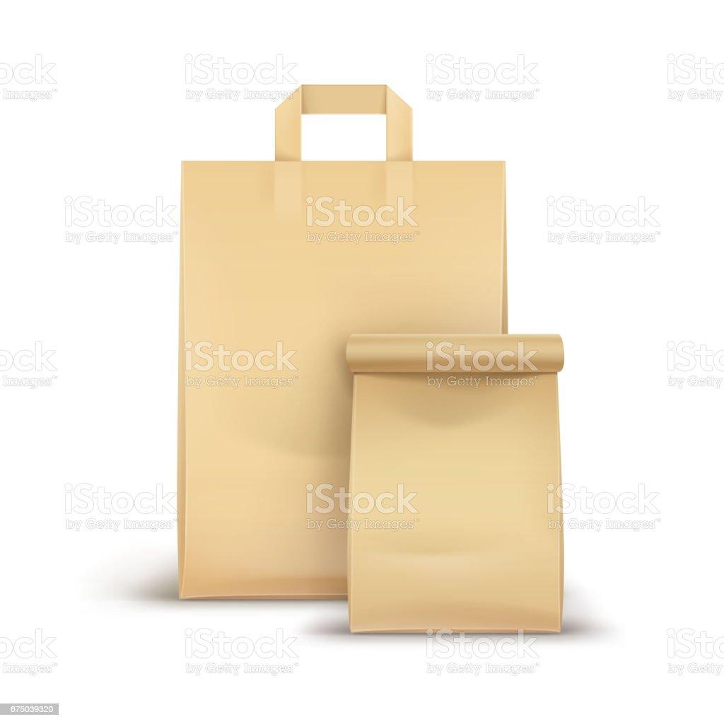 Conjunto de vetor de papel para sanduíche - ilustração de arte em vetor