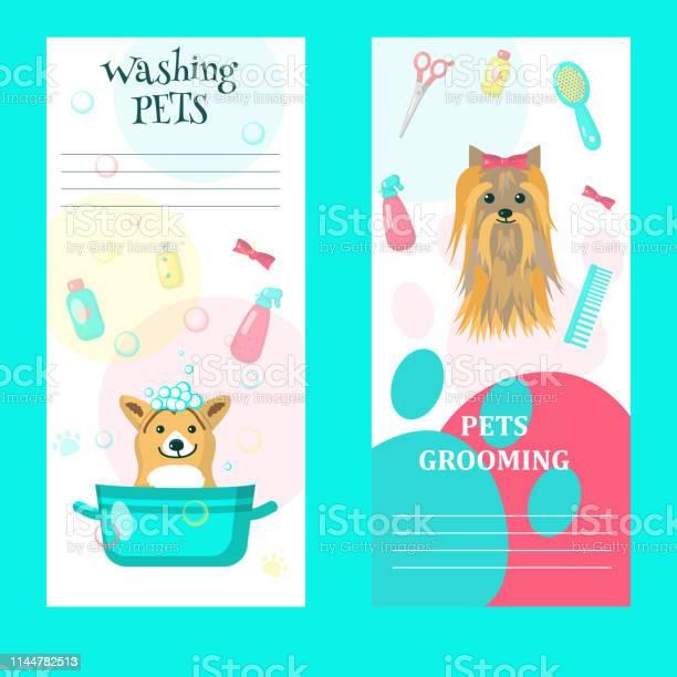 Vector set of pet grooming salon cards vector id1144782513?b=1&k=6&m=1144782513&s=612x612&h=7xpog7bxh1gqw61 8ufdx9okaz1qua pkyclzq6xzik=