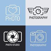 Vector set of photography logos