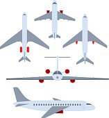 Vector set of planes. Passenger planes, the airplane, aircraft