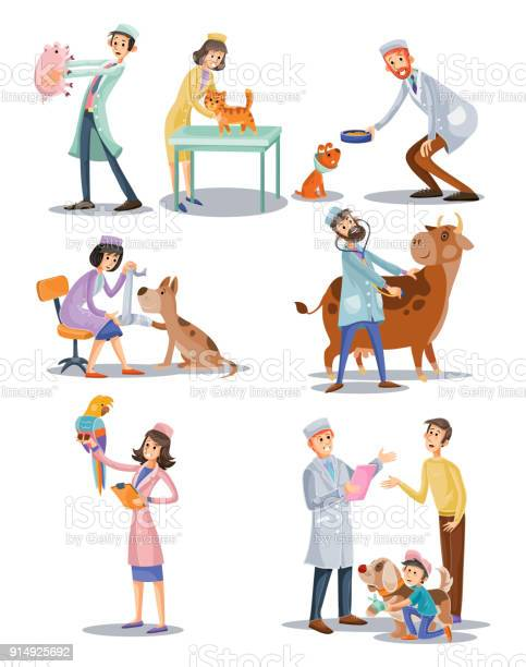Vector set of professional vet doctors animals veterinary clinic for vector id914925692?b=1&k=6&m=914925692&s=612x612&h=w 5v3nopez6vjadunh0busz9cr2fc1udu pxubdngma=