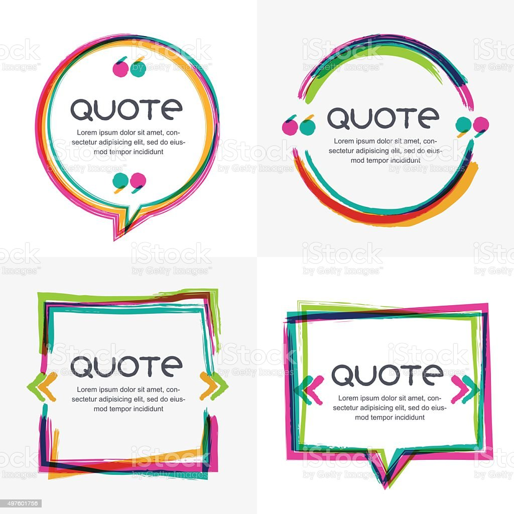 Vector set of quote forms template. vector art illustration