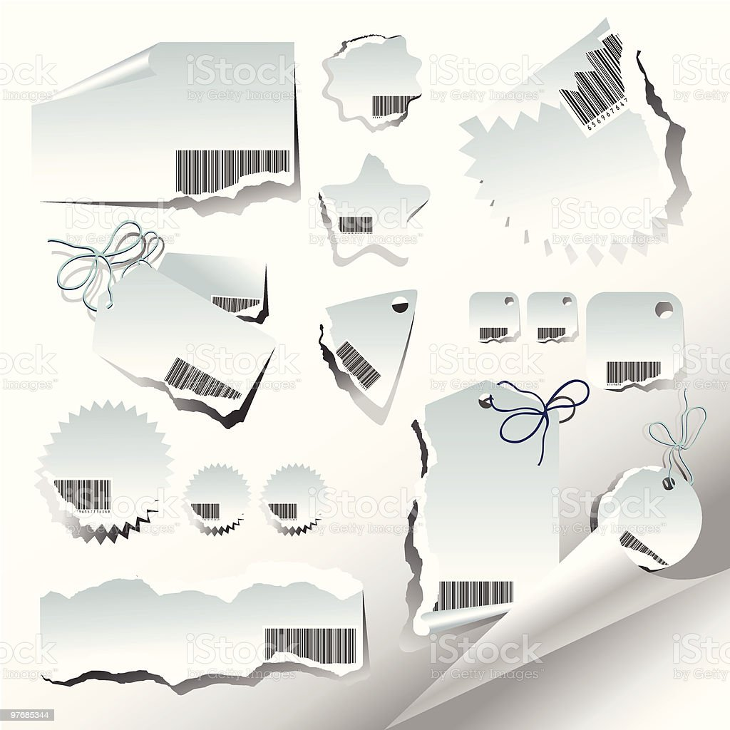 Vector set of ragged labels royalty-free vector set of ragged labels stock vector art & more images of backgrounds