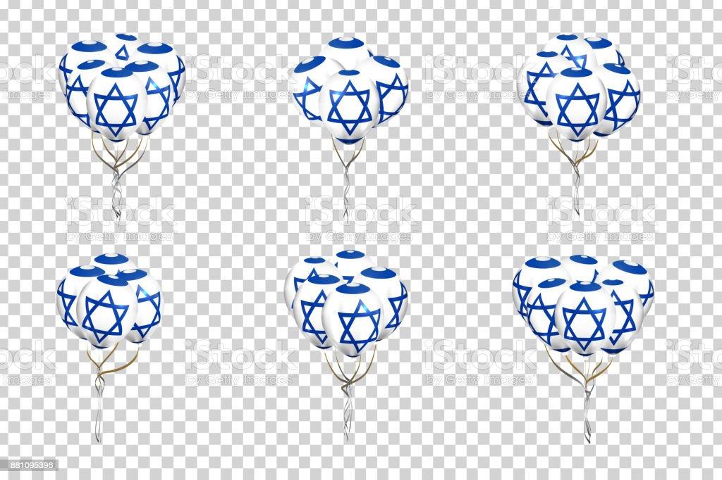 Schon Hochwertig Vektor Set Von Realistischen Isoliert Luftballons Mit Israel  Flagge Für Dekoration Und Verkleidung Auf Transparentem