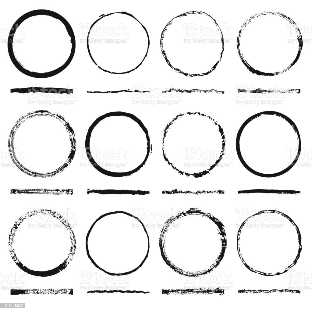 vector set of round frames sloppy shape and texture made grunge rh istockphoto com grunge vector free download grunge vector tutorial