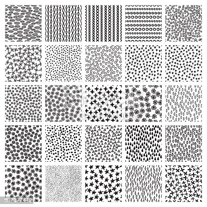 vector set of seamless patterns sketch backgrounds with spirals