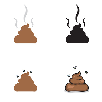 vector set of shit: icon and illustration