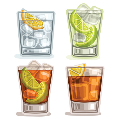 Vector set of short Drinks