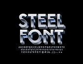 Steel 3D Font