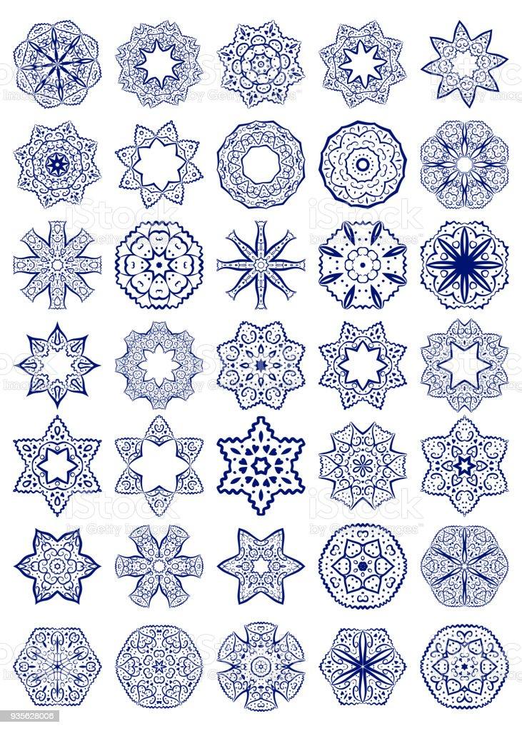 Vector Set Of Simple Sacred Geometry Symbols Stock