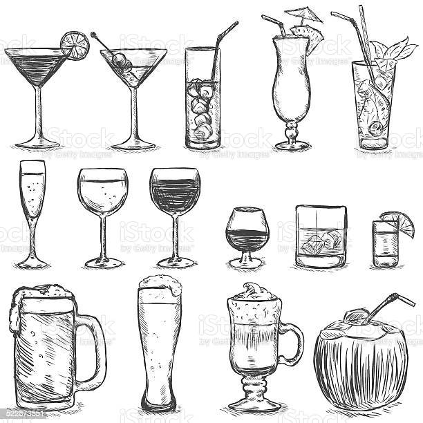 Vector set of sketch cocktails and alcohol drinks vector id522873551?b=1&k=6&m=522873551&s=612x612&h=amv21i0jbkitik3z99msdj718hiwxqyp0h3xmblozs0=