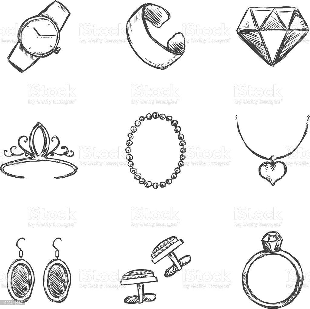 Well-known Vector Conjunto De ícones De Desenho Joias - Arte vetorial de  HO72