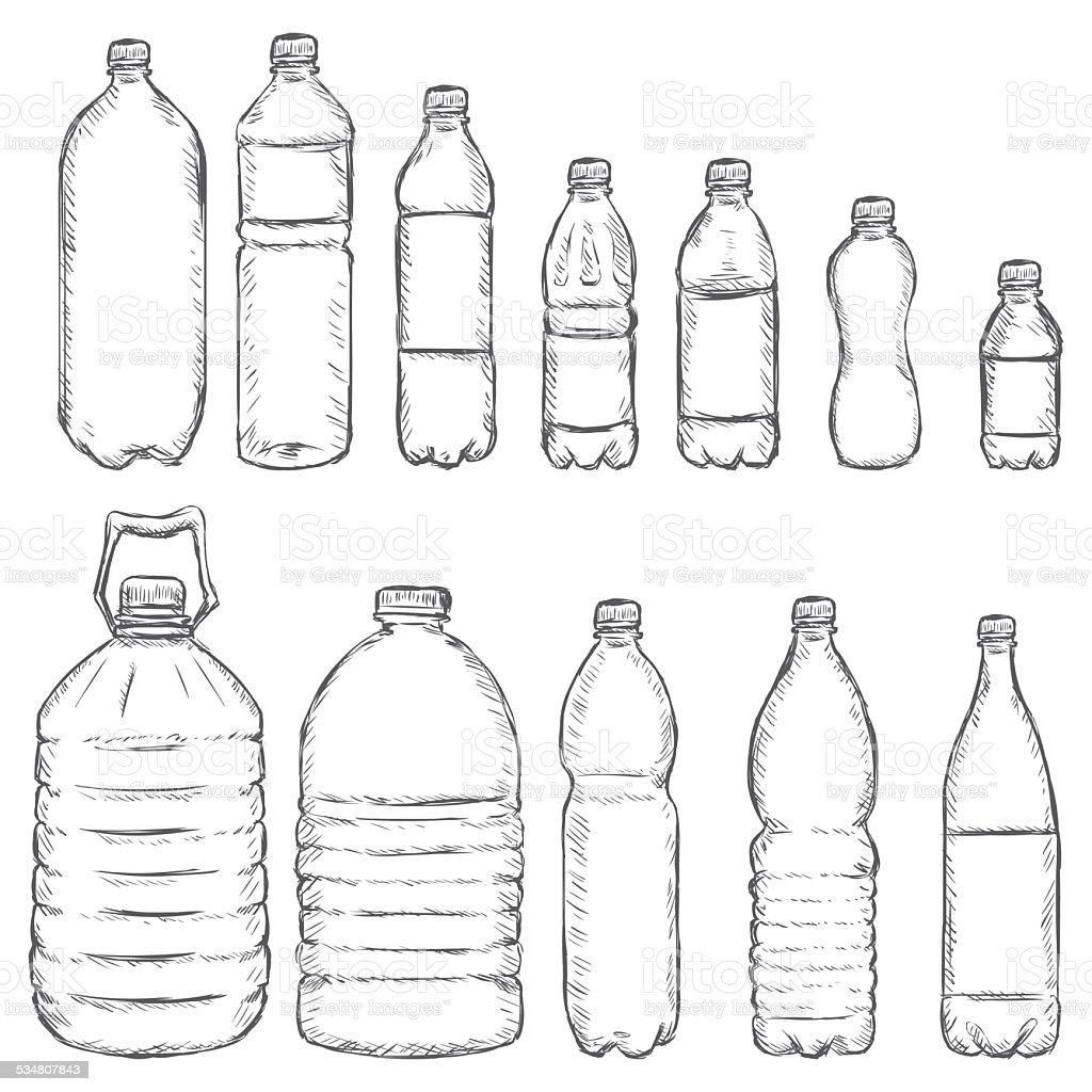 It is a photo of Gutsy Drawing Of Bottle