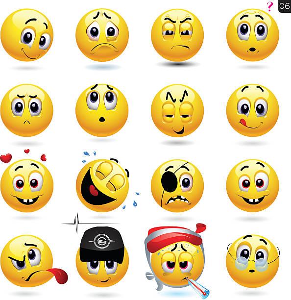 Vecteur Ensemble d'icônes smiley - Illustration vectorielle