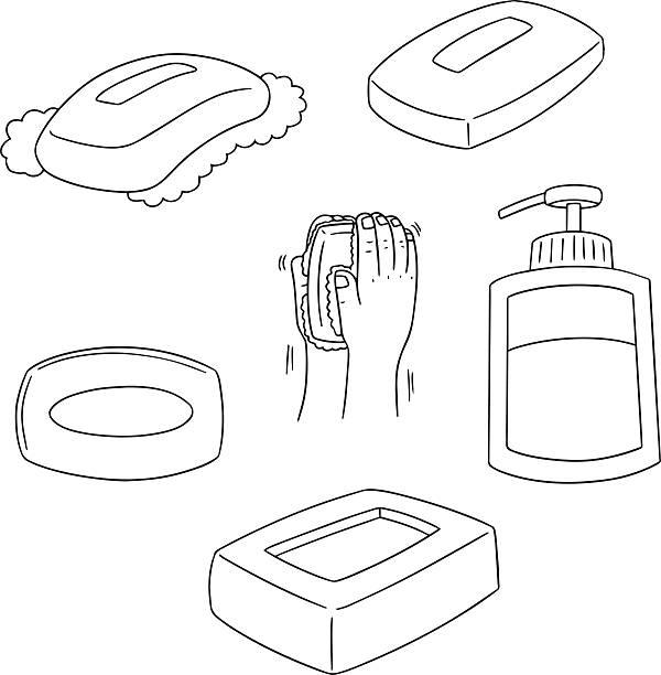 vector set of soap vector art illustration